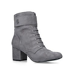 Nine West - Grey 'Querna' block heel lace up boots