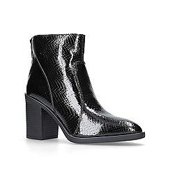 KG Kurt Geiger - Black 'Sly' mid heel ankle boots