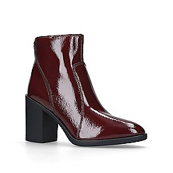 KG Kurt Geiger - Red 'Sly' mid heel ankle boots