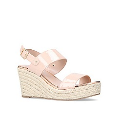 Carvela - Nude 'Bliss' mid heel wedges