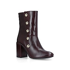 Carvela - Wine 'Soldier' block heeled ankle boots