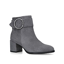 Carvela - Grey 'Snore' suede block heeled ankle boots