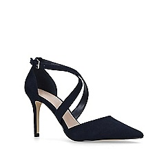 Carvela - Navy 'Kross3' high heel court shoes