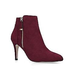 Miss KG - Wine 'Jennie' mid heel ankle boots