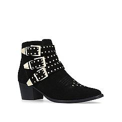 Miss KG - Black 'Tiger' mid heel ankle boots