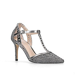 Carvela - Silver 'kankan jewel' mid heel court shoes
