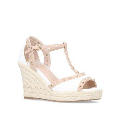 Carvela - White 'Stark' high heel wedge sandals