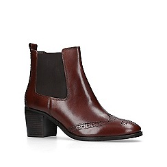 Carvela - Brown 'Shake' mid heel ankle boots