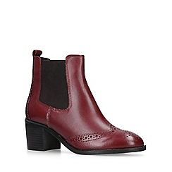 Carvela - Wine 'Shake' leather block heel ankle boots