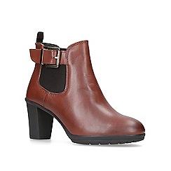 Carvela Comfort - Tan 'Rain' mid heel ankle boots