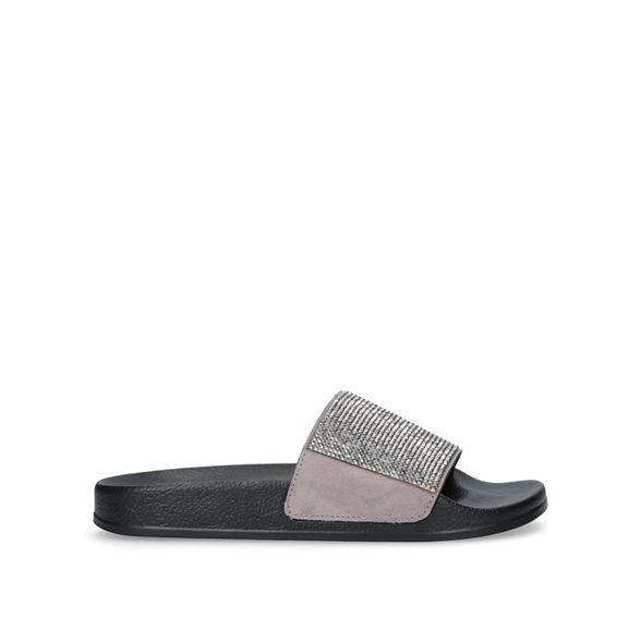 Carvela sliders Carvela Black sliders flat Black flat Carvela Black 'Krown' flat 'Krown' 'Krown' sliders BxdTCOqwx