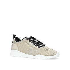Carvela - Gold 'Lit' knit low top trainers