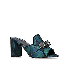 Carvela - Green 'growl' high heel mules