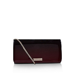 Carvela - Red Alice clutch bag with shoulder chain