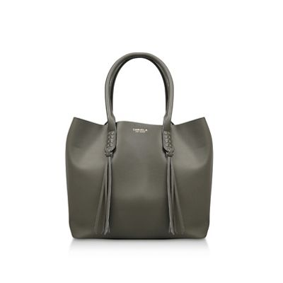 carvela---khaki-selena-plait-front-tote-bag by carvela