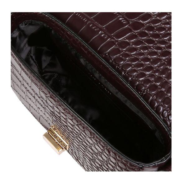 Carvela Clean Saddle bag print 'Sara croc cross body Wine Bag' rwxgwq