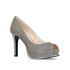 Nine West - Bronze 'Chantilly' high heel platform court shoes