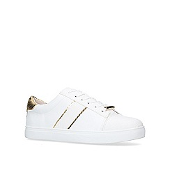 Miss KG - White 'Lyra' low top trainers