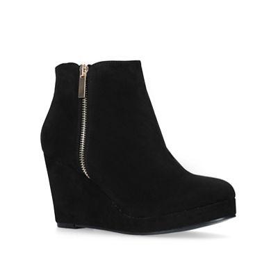 Miss KG - Black 'Hayley' mid heel ankle boots