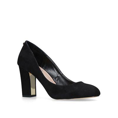 2979e9e822a Carvela Black  Kruise  mid heel court shoes
