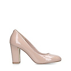 Carvela - Nude 'Kruise' patent block heel court shoes