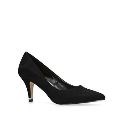 Carvela - Black 'Kicker' mid heel court shoes