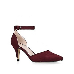 Carvela - Wine 'Kixx' kitten heel court shoes