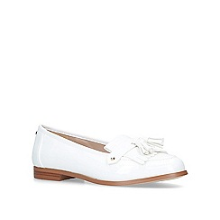 Carvela - White 'Magpie' flat loafers