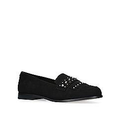 Carvela - Black 'metric' flat loafer shoes