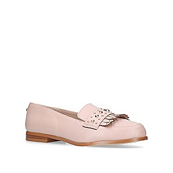 Carvela - Nude 'metric' flat loafer shoes