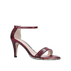 Carvela - Red 'Kink' snake print heeled sandals