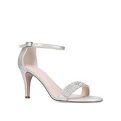 Carvela - Silver 'Kink' mid heel sandals