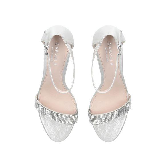'Kink' Silver sandals heel mid Carvela Bvpwx7p