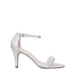 Carvela - Silver 'Kink' mid heel strappy sandals