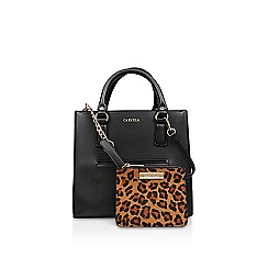 Carvela - Black 'Simba Pocket Purse Tote' tote bag with leopard purse
