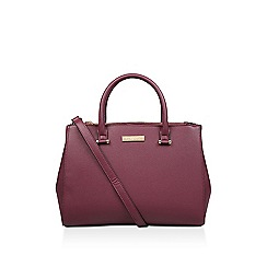 Carvela - Wine 'Sonny Dbl Zip Compartment' tote bag