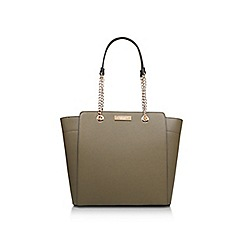 Carvela - Khaki 'Rate Tote With Part Chain' tote bag