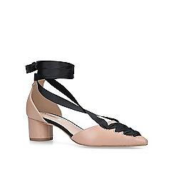 Miss KG - Nude 'April' low heel court shoes