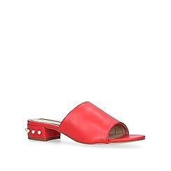 Miss KG - Red 'Rea' low heel mules