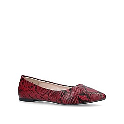 Carvela - Red 'Mousey' snakeprint ballerina pumps