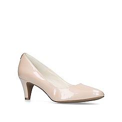 Anne Klein - Nude 'Rosalie' mid heel court shoes