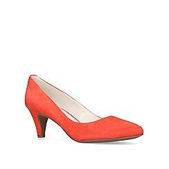 Anne Klein - Red 'Rosalie' mid heel court shoes