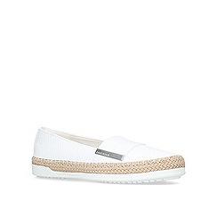 Anne Klein - White 'zilya' flat slip on sneaker