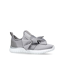 Miss KG - Grey 'Lyla Bow' low top trainers