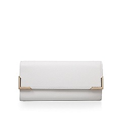 Miss KG - White 'Henna' clutch bag