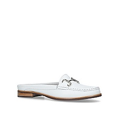 Carvela Comfort - White 'Clayton' leather loafers