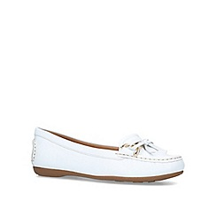Carvela Comfort - White 'Cally' leather loafers