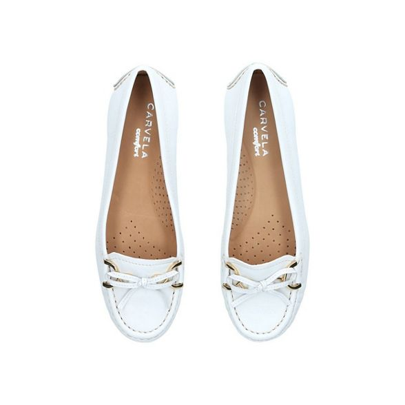 leather Carvela 'Cally' loafers White Comfort tq7qwE10
