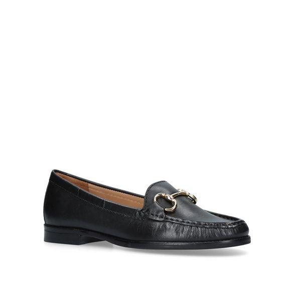 Carvela leather loafer Black flat 'Click' Comfort SrgvRS4