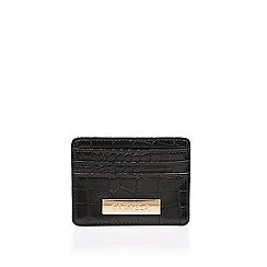 Carvela - Black 'Shali Card Holder' croc print card holder